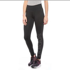Adidas Black Leggings Large Climalite b9